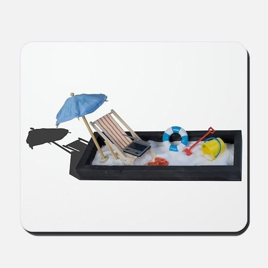 Beach Chair Umbrella Laptop Sand Mousepad