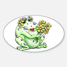 Flower Frog Decal