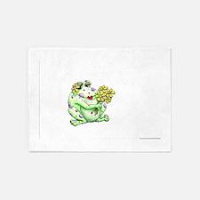 Flower Frog 5'x7'Area Rug