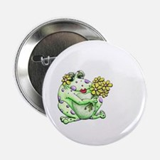 """Flower Frog 2.25"""" Button (10 pack)"""