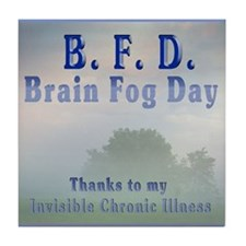 Funny Brain fog Tile Coaster