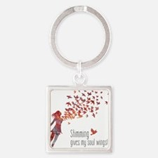 Soul Wings (F) Square Keychain