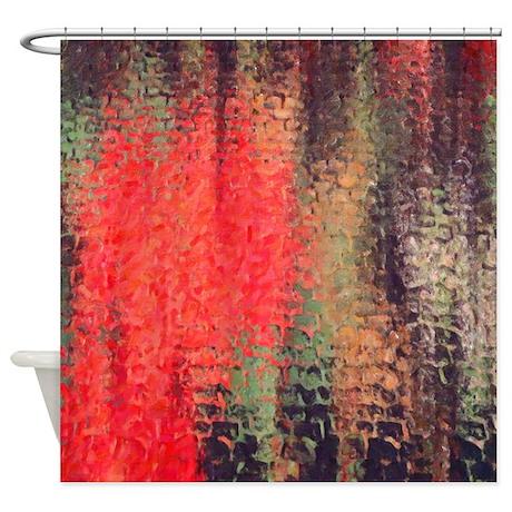 Orange And Brown Shower Curtain By FamilyandBaby