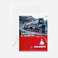 Baldwin S-2 Steam Locomotive Greeting Card