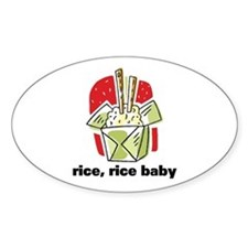 Rice Rice Baby Oval Decal