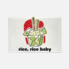 Rice Rice Baby Rectangle Magnet