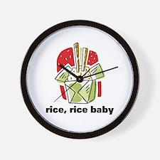 Rice Rice Baby Wall Clock