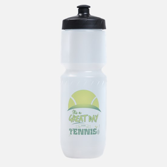 It's a Great Day For Tennis Sports Bottle