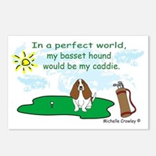 Cute Basset hound mothers day Postcards (Package of 8)