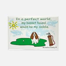 Cute Basset hound mom Rectangle Magnet