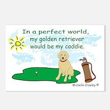 Unique Goldens retriever Postcards (Package of 8)