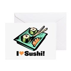 I Love Sushi! Greeting Cards (Pk of 10)