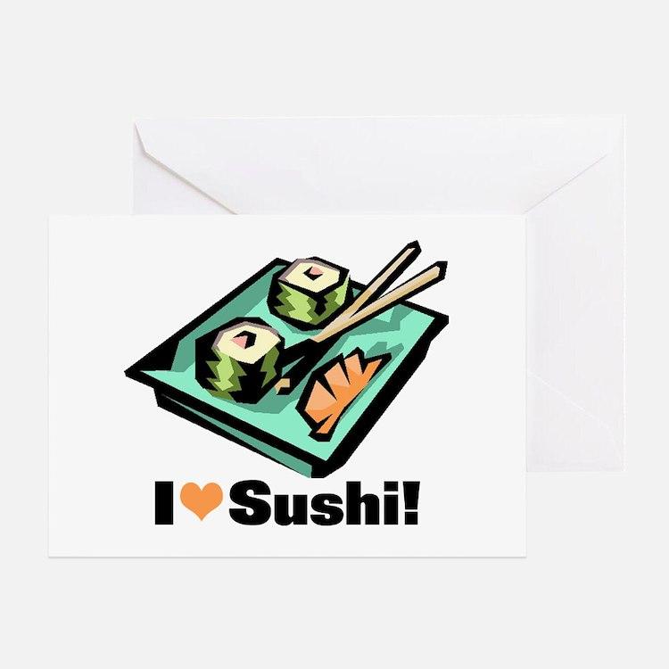 I Love Sushi! Greeting Card