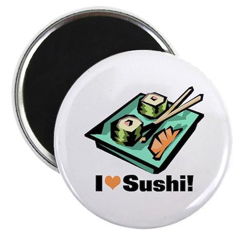"""I Love Sushi! 2.25"""" Magnet (10 pack)"""