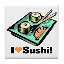I Love Sushi! Tile Coaster