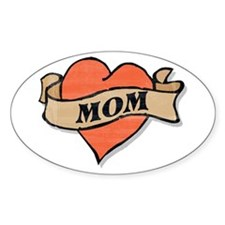 mom tattoo Oval Decal