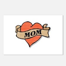 mom tattoo Postcards (Package of 8)
