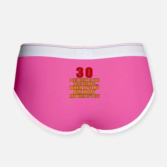 30 birthday Designs Women's Boy Brief
