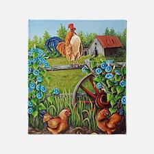 Cute Rooster Throw Blanket