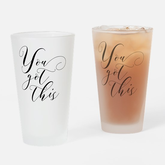 Cute Motivational quote Drinking Glass