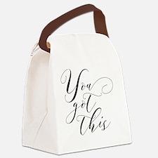 Cute Motivation Canvas Lunch Bag