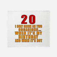 20 birthday Designs Throw Blanket