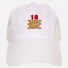 18 birthday Designs Baseball Baseball Cap