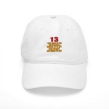 13 birthday Designs Baseball Baseball Cap