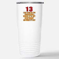 13 birthday Designs Travel Mug