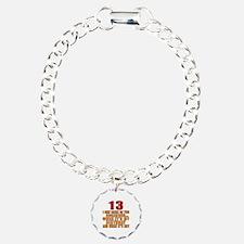 13 birthday Designs Bracelet