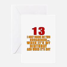13 birthday Designs Greeting Card