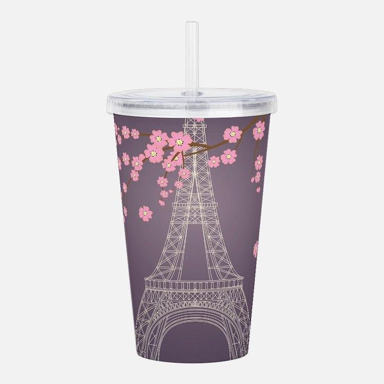 Eiffel Tower Acrylic Double-wall Tumbler