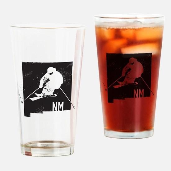 Ski New Mexico Drinking Glass