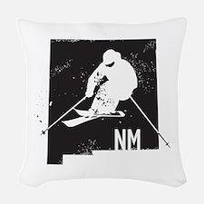 Ski New Mexico Woven Throw Pillow