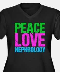 Nephrology Women's Plus Size V-Neck Dark T-Shirt