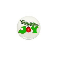 Joy Christmas Pine Bough Mini Button (10 pack)