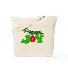 Joy Christmas Pine Bough Tote Bag