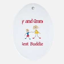 Cody & Grandma - Buddies Oval Ornament