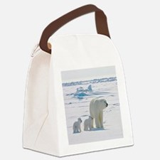 Polar Bears Canvas Lunch Bag