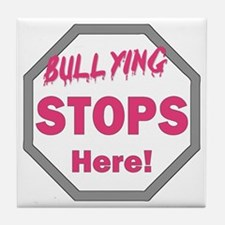 Cute Bullying Tile Coaster
