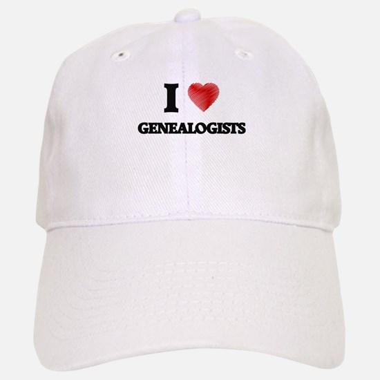 I love Genealogists Baseball Baseball Cap