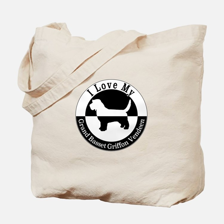 Cute Grand basset griffon venden Tote Bag