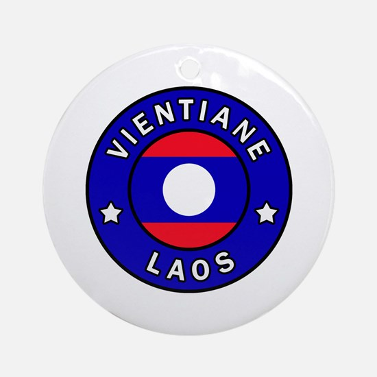 Cute Laos Round Ornament