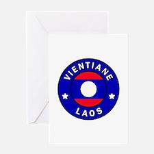 Vientiane Laos Greeting Cards