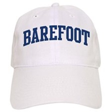 BAREFOOT design (blue) Baseball Cap