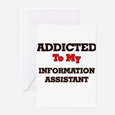 Addicted to my Information Assistan Greeting Cards