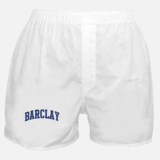 BARCLAY design (blue) Boxer Shorts