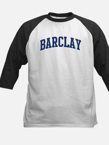 BARCLAY design (blue) Kids Baseball Jersey
