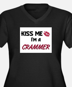 Kiss Me I'm a CRAMMER Women's Plus Size V-Neck Dar