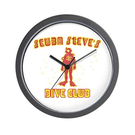 Scuba Steve's Dive Club Wall Clock
